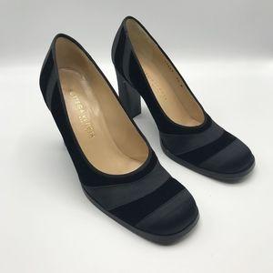 Bottega Veneta Black Satin & Velvet Pumps Heels